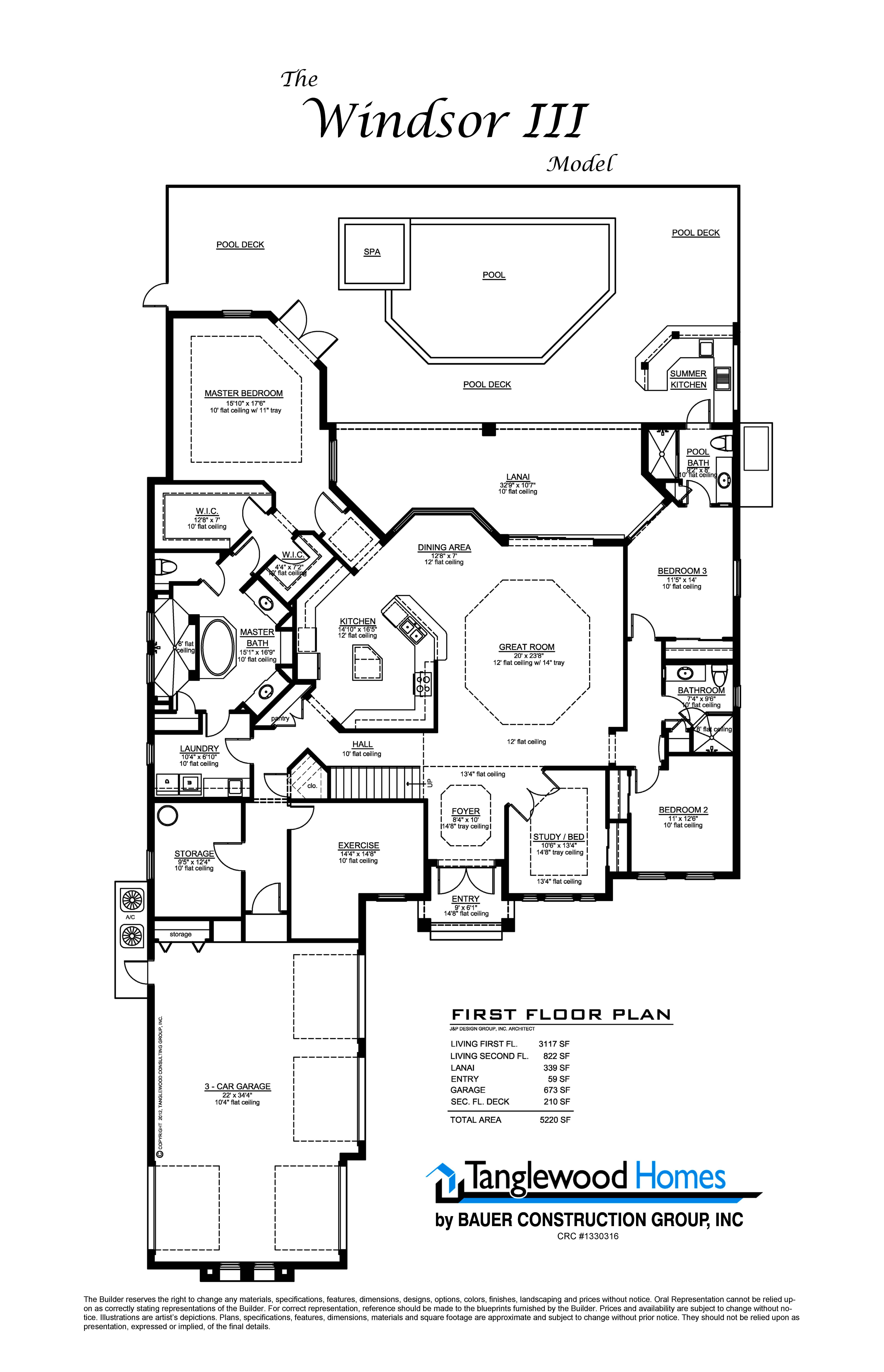 Home Construction Plans Windsor Iii Ft Myers Fl